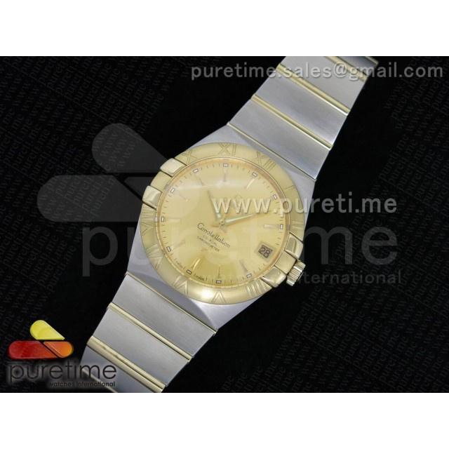 Cheap Discount Replica Constellation 38mm SS Yellow Gold Dial YG Bezel on SS/YG Bracelet ETA-2824