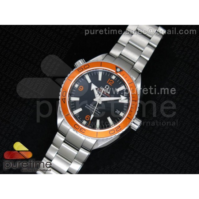 Cheap Discount Replica Planet Ocean Professional Orange Bezel 42mm 1:1 Noob Best Edition on SS Bracelet A2836
