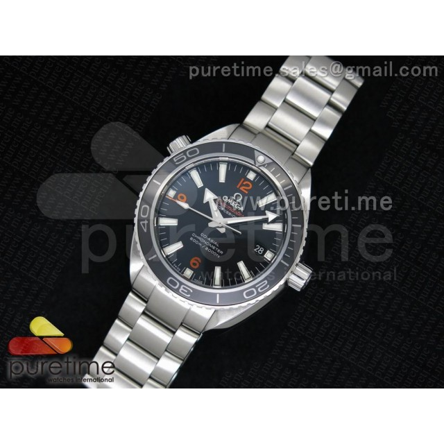 Cheap Discount Replica Planet Ocean Professional Ceramic/Orange Bezel 42mm 1:1 Noob Best Edition on SS Bracelet A2836