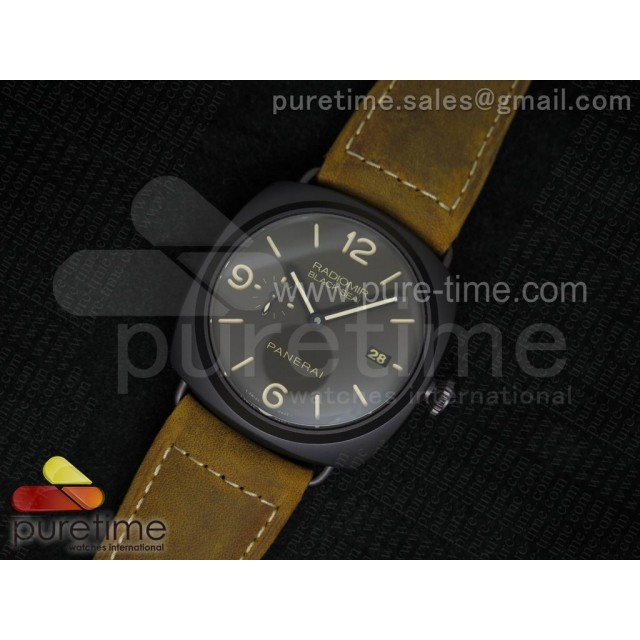 Cheap Discount Replica PAM505 O Radiomir Composite Black Seal V6F 1:1 Best Edition on Brown Asso Strap P9000