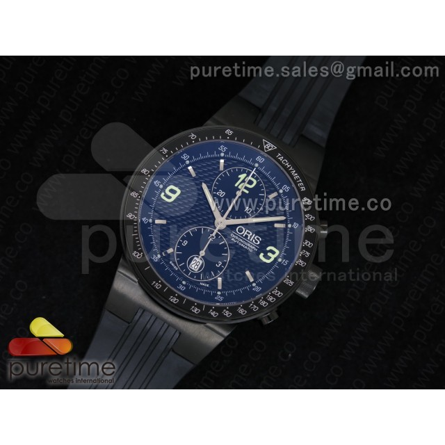 Cheap Discount Replica Williams F1 Team Chrono PVD Black Dial on Black Rubber Strap A7750