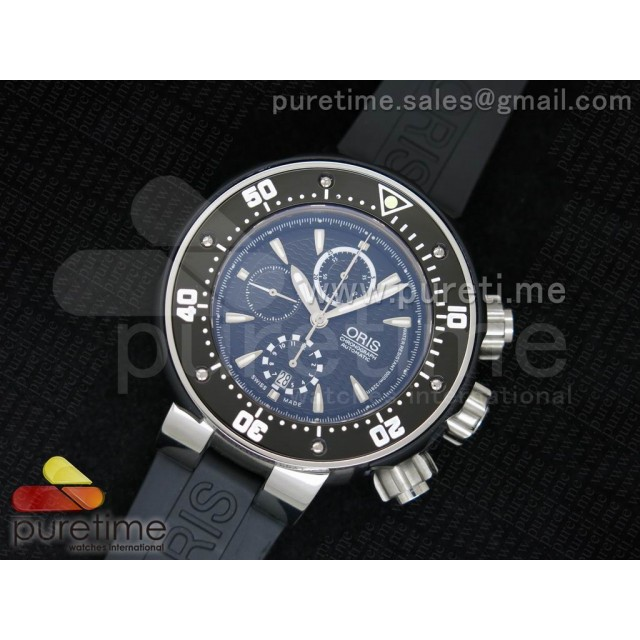 Cheap Discount Replica ProDiver 51mm Chrono SS Black Dial on Black Rubber Strap A7750