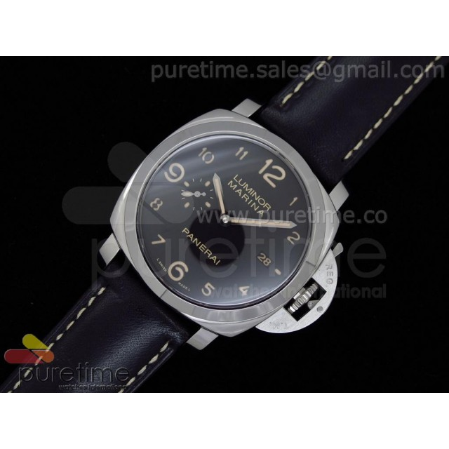 Cheap Discount Replica PAM359 M Best Edition V2 on Black Italian Leather Strap