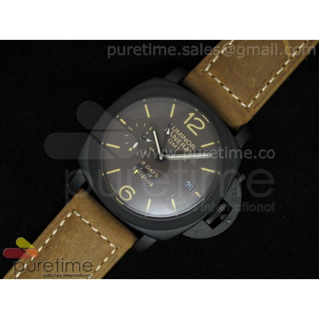 Cheap Discount Replica PAM402 1950 10 Days GMT PVD Brown Dial on Brown Leather Strap