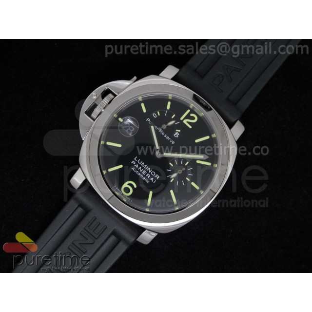 Cheap Discount Replica PAM123 Power Reserve Lefty on Rubber Strap A2813