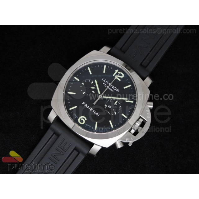 Cheap Discount Replica PAM361 Flyback Chrono on Black Rubber Strap ST19