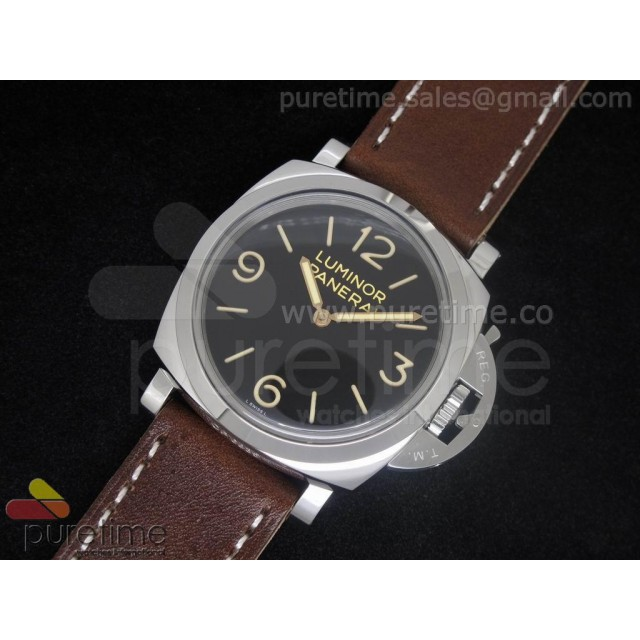 Cheap Discount Replica PAM372 N 1:1 Edition on Thick Brown Leather Strap A6497