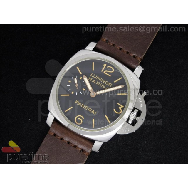 Cheap Discount Replica PAM422 Black Dial on Brown Lether Strap A6497