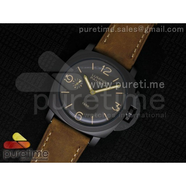 Cheap Discount Replica PAM375 O ZF Best Edition on Brown Asso Strap P.3000