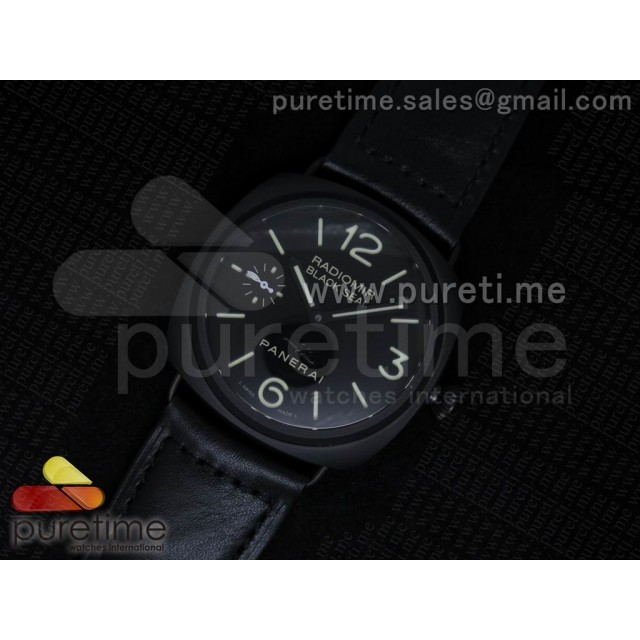 Cheap Discount Replica PAM292 J Pig 1:1 Noob Best Edition on Black Leather Strap