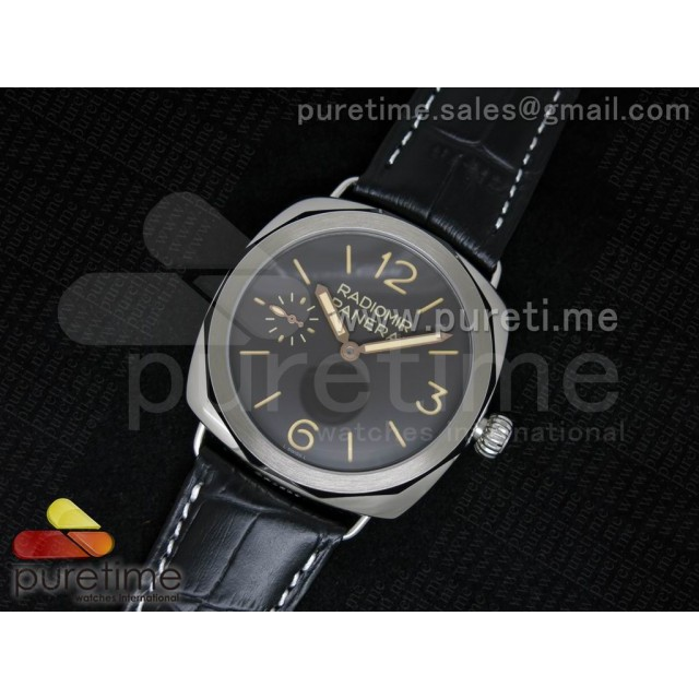 Cheap Discount Replica Radiomir Platino PAM521 P on Black Leather Strap P.3000