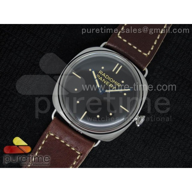 Cheap Discount Replica PAM449 O Batton Dial on Thick Deep Brown Leather Strap P.3000 Super Clone