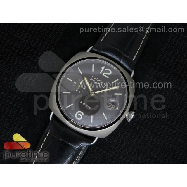 Cheap Discount Replica PAM346 P Titanium Radiomir 8 Days on Black Leather Strap P2002