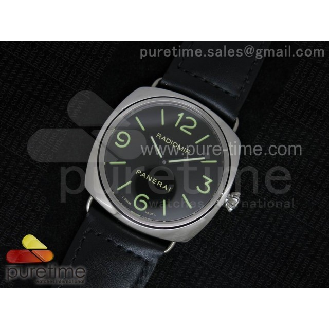 Cheap Discount Replica PAM210 K Radiomir JF Black Dial on Black Leather Strap A6497