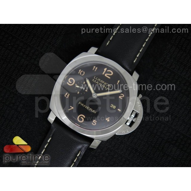 Cheap Discount Replica PAM359 N V6F 1:1 Best Edition on Black Leather Strap P9000
