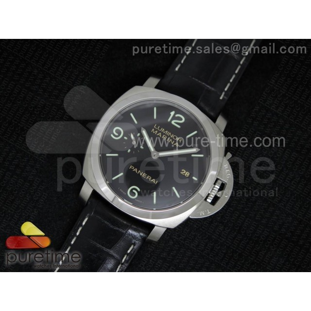 Cheap Discount Replica PAM312 O V6F 1:1 Best Edition on Black Leather Strap P9000