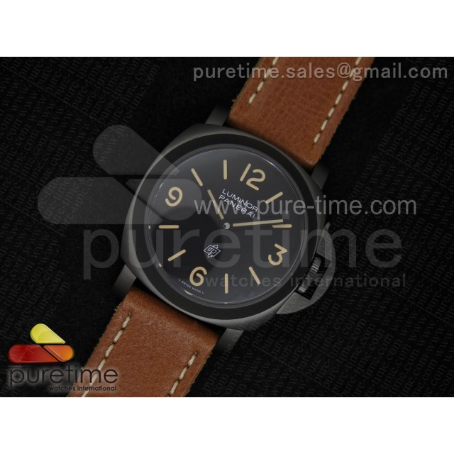 Cheap Discount Replica PAM360 M V6F Best Edition on Brown Thick Leather Strap A6497