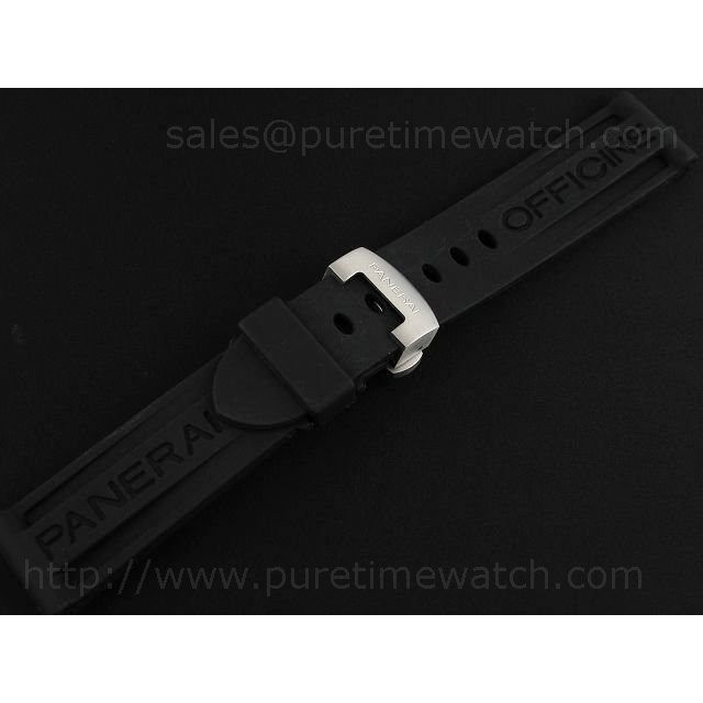Cheap Discount Replica Panerai 22/20 Black Rubber Leather Strap for 40mm Models
