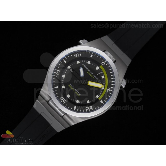 Cheap Discount Replica Performance P6780 Diver Black Dial on Black Rubber Strap A2836