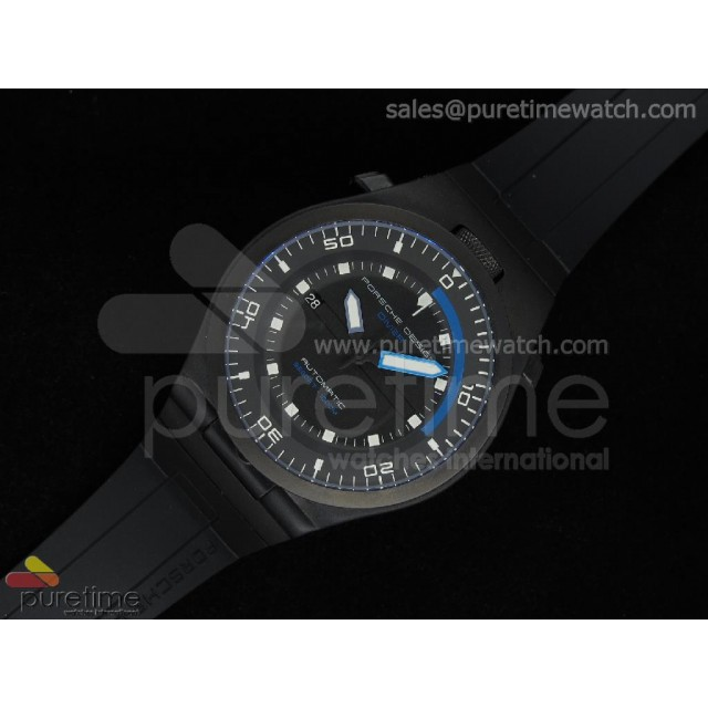 Cheap Discount Replica Performance P6780 Diver PVD Black Dial on Black Rubber Strap V2