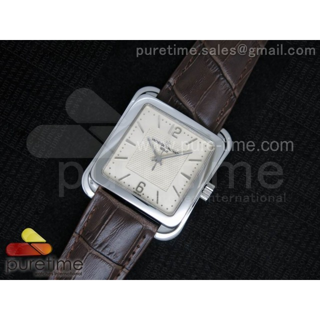 Cheap Discount Replica Historiques Toledo SS Cream Dial on Brown Leather Strap MIYOTA9015