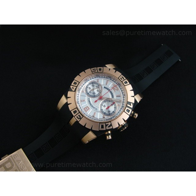 Cheap Discount Replica Chronoexcel Rose Gold Silver Dial