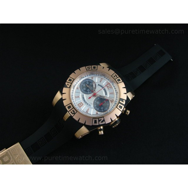 Cheap Discount Replica Chronoexcel Rose Gold Silver Dial-1