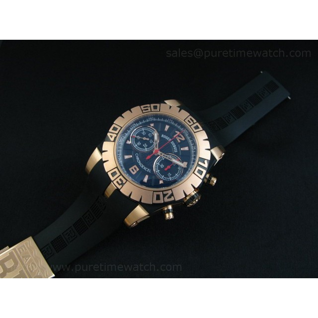 Cheap Discount Replica Chronoexcel Rose Gold Black Dial