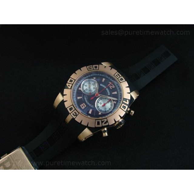 Cheap Discount Replica Chronoexcel Rose Gold Black Dial-1