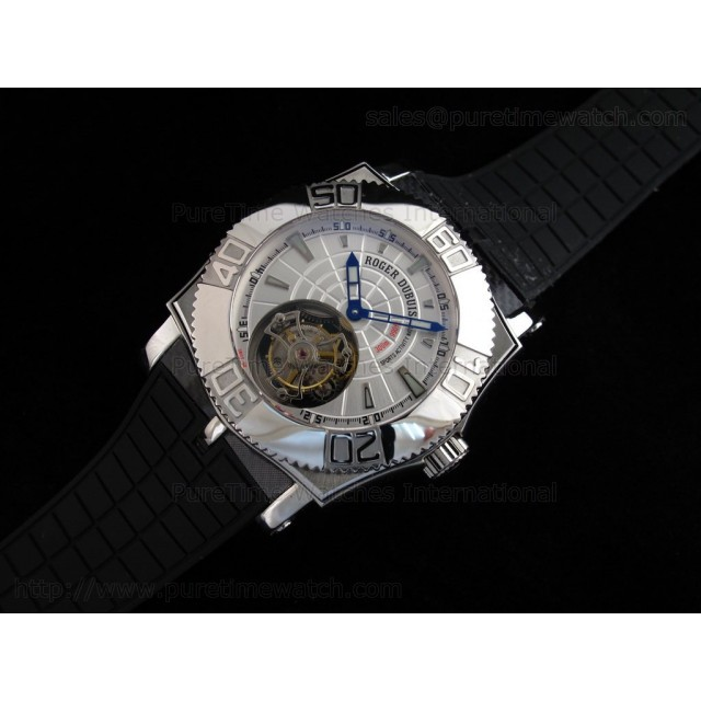 Cheap Discount Replica EasyDiver Tourbillon SS White