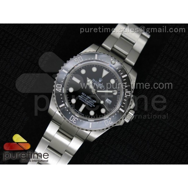Cheap Discount Replica Sea-Dweller 116600 Noob SS Black Dial on SS Bracelet A2836