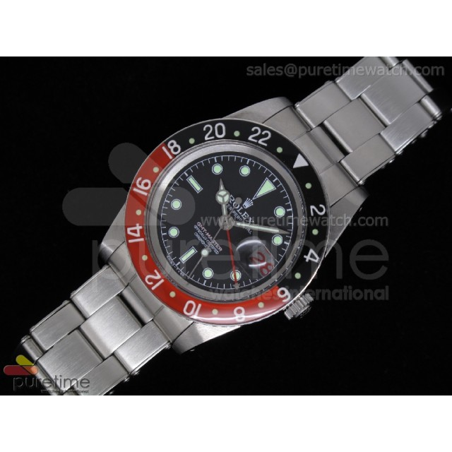 Cheap Discount Replica Vintage GMT-Master 6542 Black Dial Black/Red ETA2846