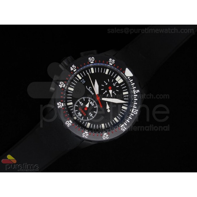 Cheap Discount Replica U1000 Chrono PVD Black Dial Rubber A23J Auto
