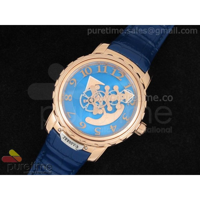 Cheap Discount Replica Freak RG Blue Dial on Blue Leather Strap A21J