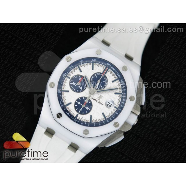 Royal Oak Offshore 44mm Real White Ceramic JF 1:1 Best Edition A3126