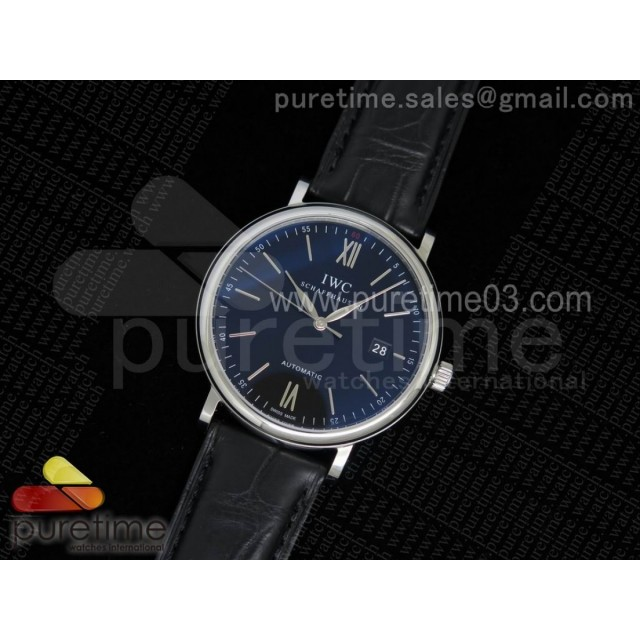 Portofino Automatic SS Black Dial on Black Croco Leather Strap A2892