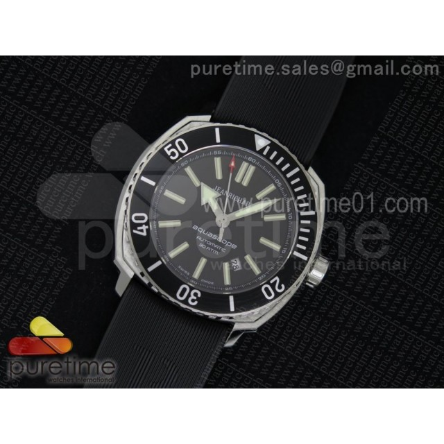 Aquascope SS Black Bezel Black Dial on Black Rubber Strap MIYOTA 9015