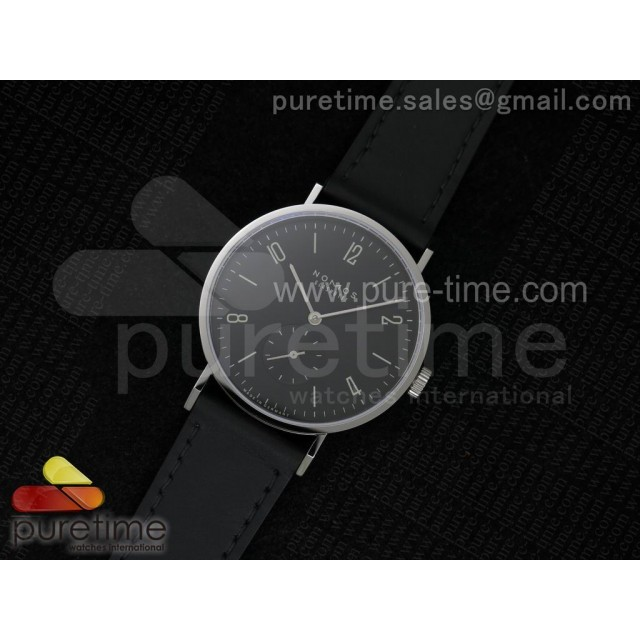 Tangente V6F Black Dial Style 1 on Black Leather Strap A23J