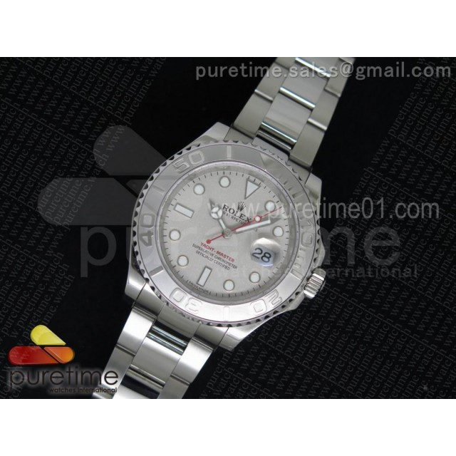 Yacht-Master 116622 1:1 Noob Best Edition Silver Dial on SS Bracelet A2824