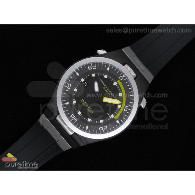 Cheap Discount Replica Performance P6780 Diver SS/PVD Black Dial on Black Rubber Strap A2836 V2
