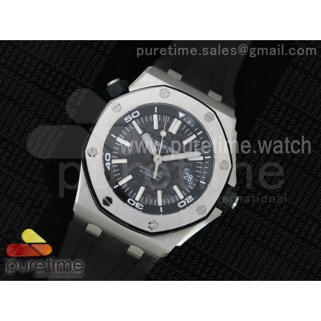 Royal Oak Offshore Diver 1:1 V8 JF Best Edition on Rubber Strap A3120