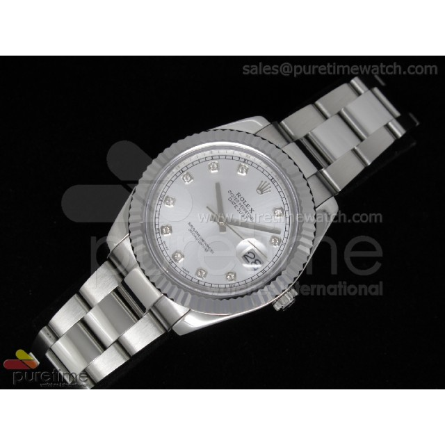 Cheap Discount Replica DateJust II SS Silver Diamond Dial Oyster A2836