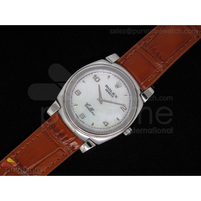 Cheap Discount Replica Cellini SS Silver Dial Brown Leather Strap Swiss Quartz